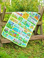 Детский эко плед-одеяло Loskutini с конопляным наполнителем Детские рисунки LK.1113 75х100 см