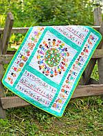 Детский эко плед-одеяло Loskutini с конопляным наполнителем Счастливые детки LK.1115 75х100 см