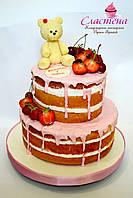 """Детский голый торт  """"Мишке 1 годик"""""""