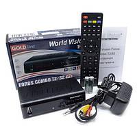 Т2 приставка - приемник - спутниковый ресивер World Vision Foros Combo T2-S2-C R156255