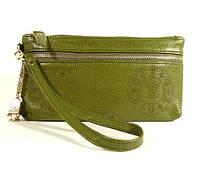 Кошелек-клатч кожаный LOUIS VUITTON 1870 зеленый в наличии