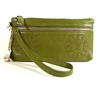 Кошелек-клатч кожаный LOUIS VUITTON 1870 зеленый в наличии, фото 1