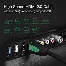 HDMI кабель V2.0 Ugreen HD101 з підтримкою FullHD/4K/3D video resolution, багатоканальний звук 5.1/7.1 (1.5 м), фото 2