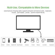 USB кабель удлинитель Ugreen USB 2.0 US103 (AM / AF штекер - гнездо, Черный, 1м), фото 3