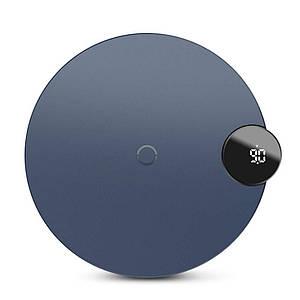 Бездротове зарядний пристрій Baseus Digital LED Display Wireless Charging з LED дисплеєм BSWC - P21 (Синє)
