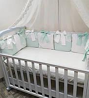 Бортики-подушки в детскую кроватку