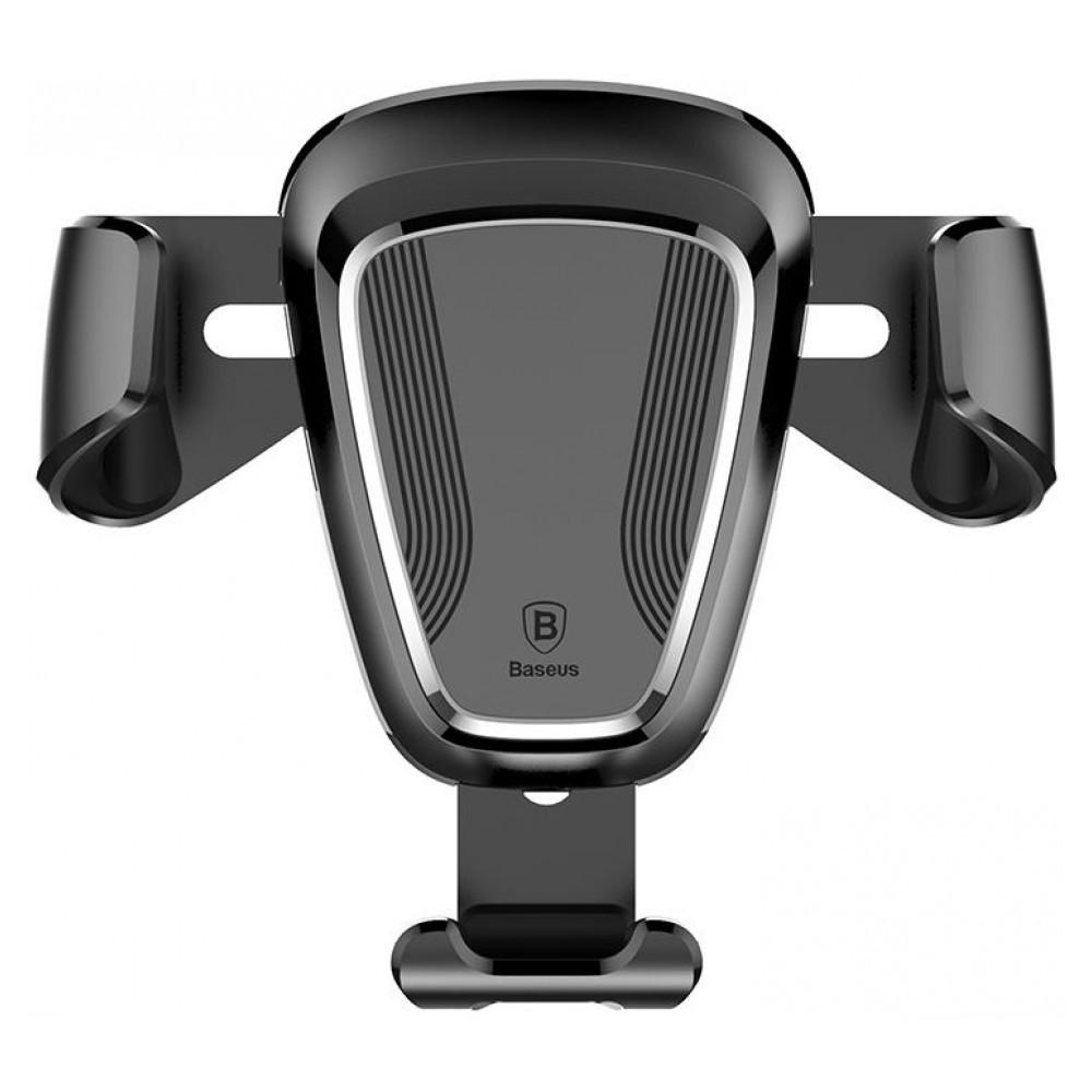 Універсальний автомобільний тримач док-станція Baseus для телефону Car Holder Gravity SUYL-01 (Чорний, Пластик)