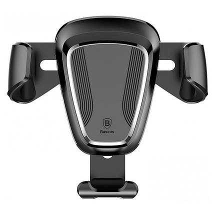 Універсальний автомобільний тримач док-станція Baseus для телефону Car Holder Gravity SUYL-01 (Чорний, Пластик), фото 2