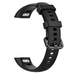 Ремешок для фитнес-браслета Honor Band 4 (Черный, силиконовый)