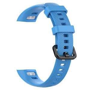 Ремешок для фитнес-браслета Honor Band 4 (Голубой, силиконовый)