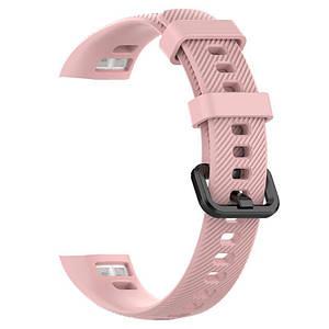 Ремешок для фитнес-браслета Honor Band 4 (Розовый, силиконовый)
