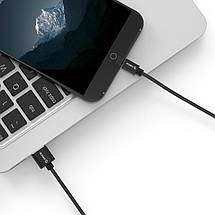 Кабель Micro USB Orico MTF-10 для заряджання і передачі даних (Чорний, 1м), фото 2