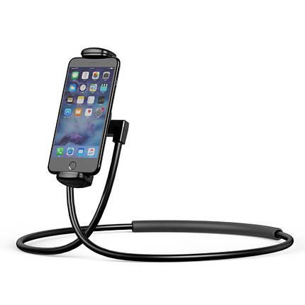 Тримач для телефону/планшета Baseus Necklace Lazy Bracket SUJG-LR01 (Чорний), фото 2