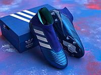 Бутсы Adidas Predator 18+FG/ копы адидас предатор с носком/без шнурков(реплика) /44./, фото 1