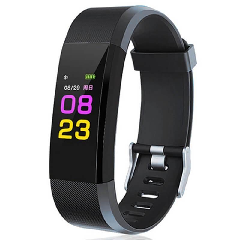 Фітнес-браслет Smart Band id115 Plus з кольоровим 0,96 дюймовим екраном (Чорний)