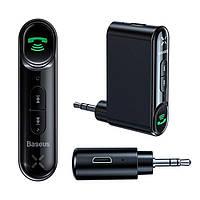 Bluetooth 5.1 приемник Baseus Type 7 c Aux выходом 3.5 мм с микрофоном для автомагнитол, колонок WXQY-01