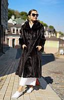 Шуба норковая женская длинная, клеш. Модель 200356, фото 1