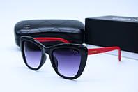 Солнцезащитные очки квадратные Ch 5392 черные с красным, фото 1
