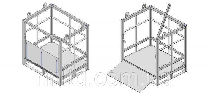 Металлические контейнеры для транспортировки газовых баллонов (кассета, моноблок, бандл, паллета), фото 1