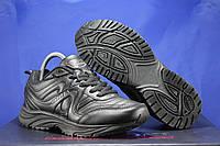 Мужские кожаные демисезонные черные кроссовки BONA