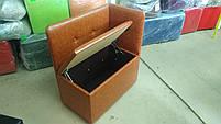 Банкетка (пуфик) со спинкой, с сиденьем и ящиком в прихожую, для обуви, магазина, спальню. - PF-039, фото 4