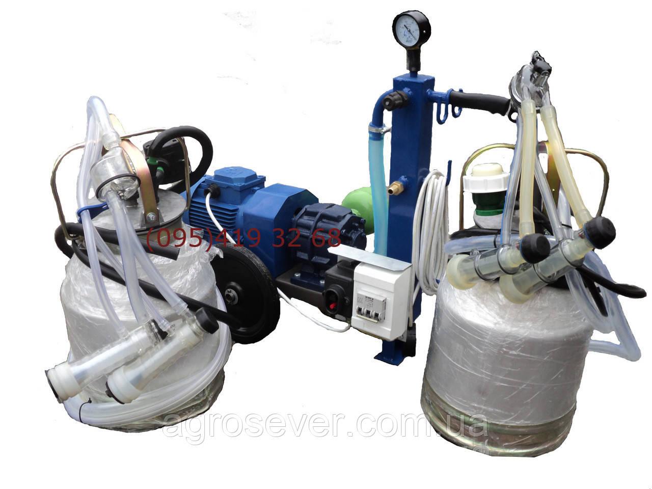 Доїльна установка для кіз і овець АЇД-2 з двома доїльними відрами