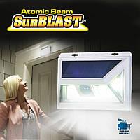 Светильник с датчиком движения на солнечной батарее Atomic Beam SunBlast, фото 1