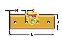 Нож ковша (режущая кромка) 790х280х25  мм Liebherr 9067181