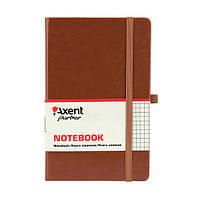 Книга записная Axent Partner Lux 125*195 96л кл коричневый 8202-19-A