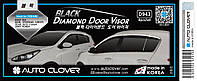 Ветровики c хром молдингом, дефлекторы окон KIA SPORTAGE 2016- (D943)