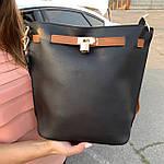 Женская сумка c косметичкой черная  (036), фото 2
