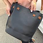 Женская сумка c косметичкой черная  (036), фото 5