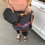 Женская сумка c косметичкой черная  (036), фото 7