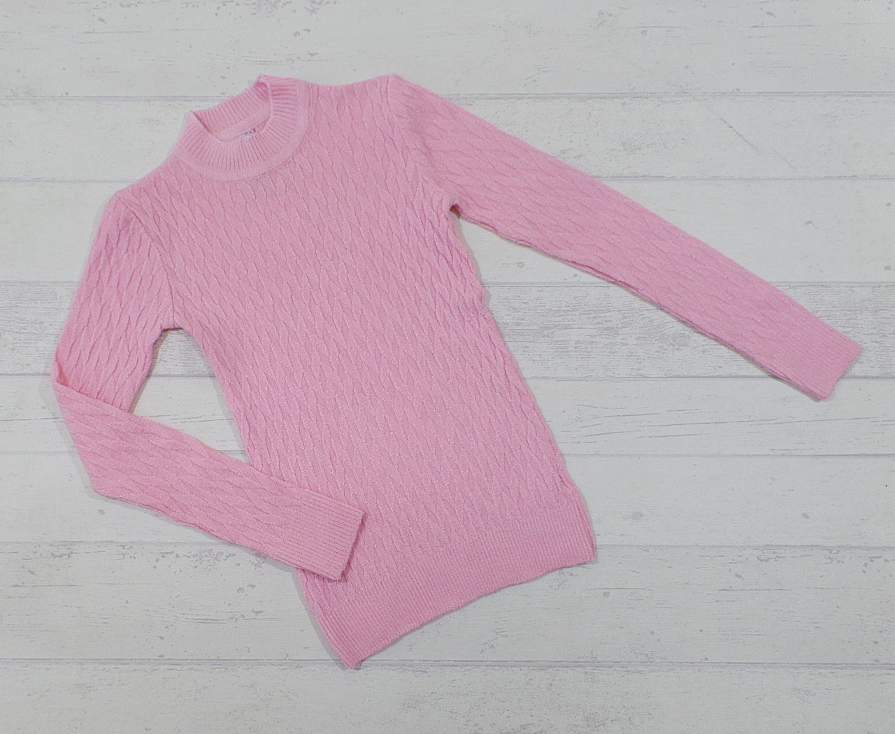 Детский вязаный свитер на девочку 11-12, 13-14 лет