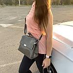 Стильная женская сумка серая (35896), фото 4