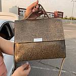 Стильная женская сумка серая (35896), фото 5