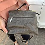 Стильная женская сумка серая (35896), фото 6