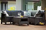 Набір садових меблів Corfu Relax Set Graphite ( графіт ) з штучного ротанга ( Allibert by Keter ), фото 8