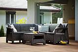 Набір садових меблів Corfu Relax Set Graphite ( графіт ) з штучного ротанга ( Allibert by Keter ), фото 7