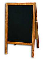 Штендер меловой 100х60 см, двухсторонний деревянная рама