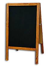 Штендер крейдяної 100х60 см, двосторонній дерев'яна рама