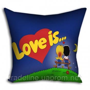 Подушка 40x40 Love is...
