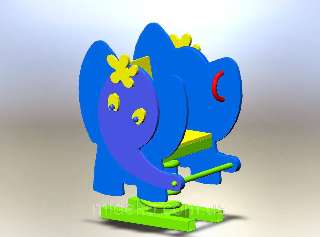 """Качалка на пружине """"Слон"""""""