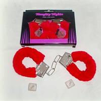 Наручники меховые с кубиком камасутра, фото 1