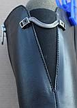 Сапоги женские зимние кожаные на каблуке от производителя модель Ф1901, фото 4