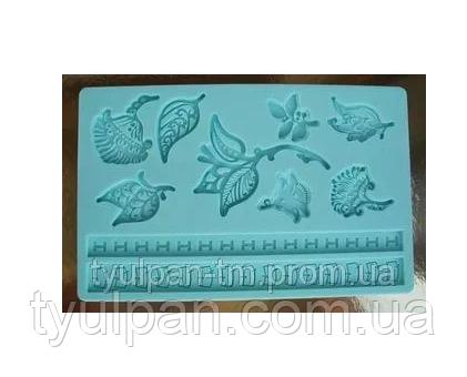 Молд кондитерский силиконовый Листики 13 х 20 cm.