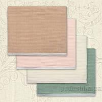 Плед детский Полоска Бетис вязка-кулир  цвет зеленый