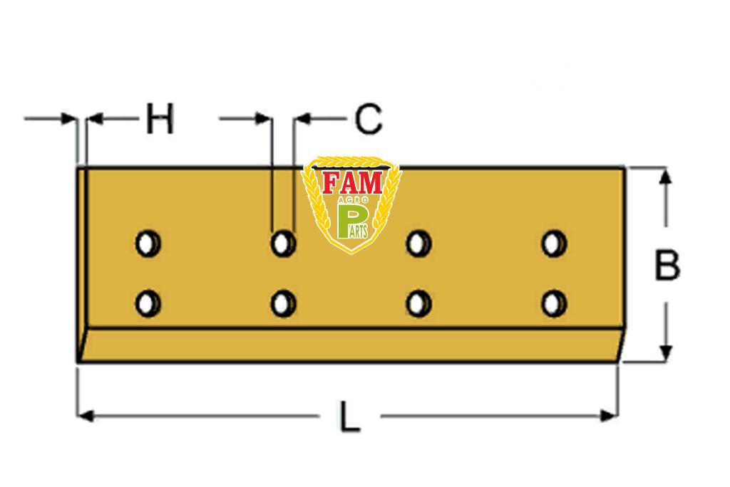 Нож ковша (режущая кромка) 2400х150х20  мм Liebherr 9068218