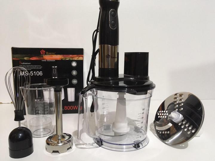 Блендер с миксером 2в1 измельчитель Domotec Stabmixer 800W MS-5106 Black