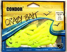 Силіконовий твістер Crazy bait CTF50, колір 045, 50мм, 15шт.